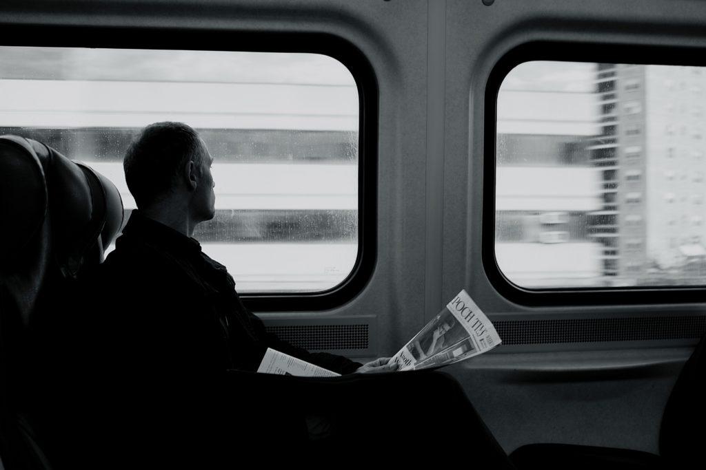 main reading in train media watch
